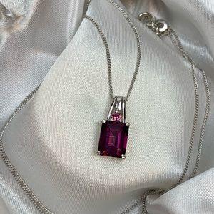 💜Genuine Purple Topaz Pendant💜